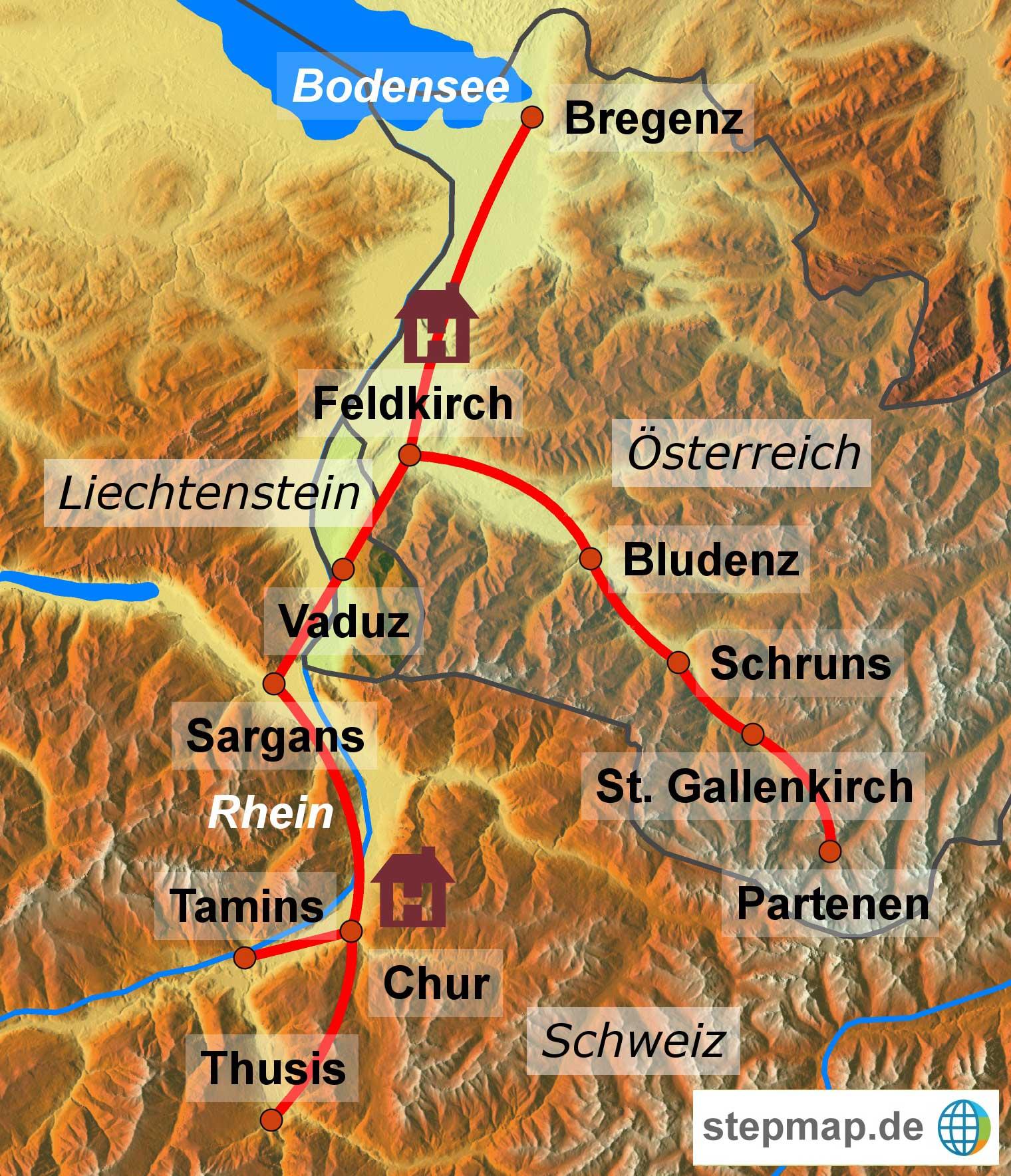 Rad alpenrhein