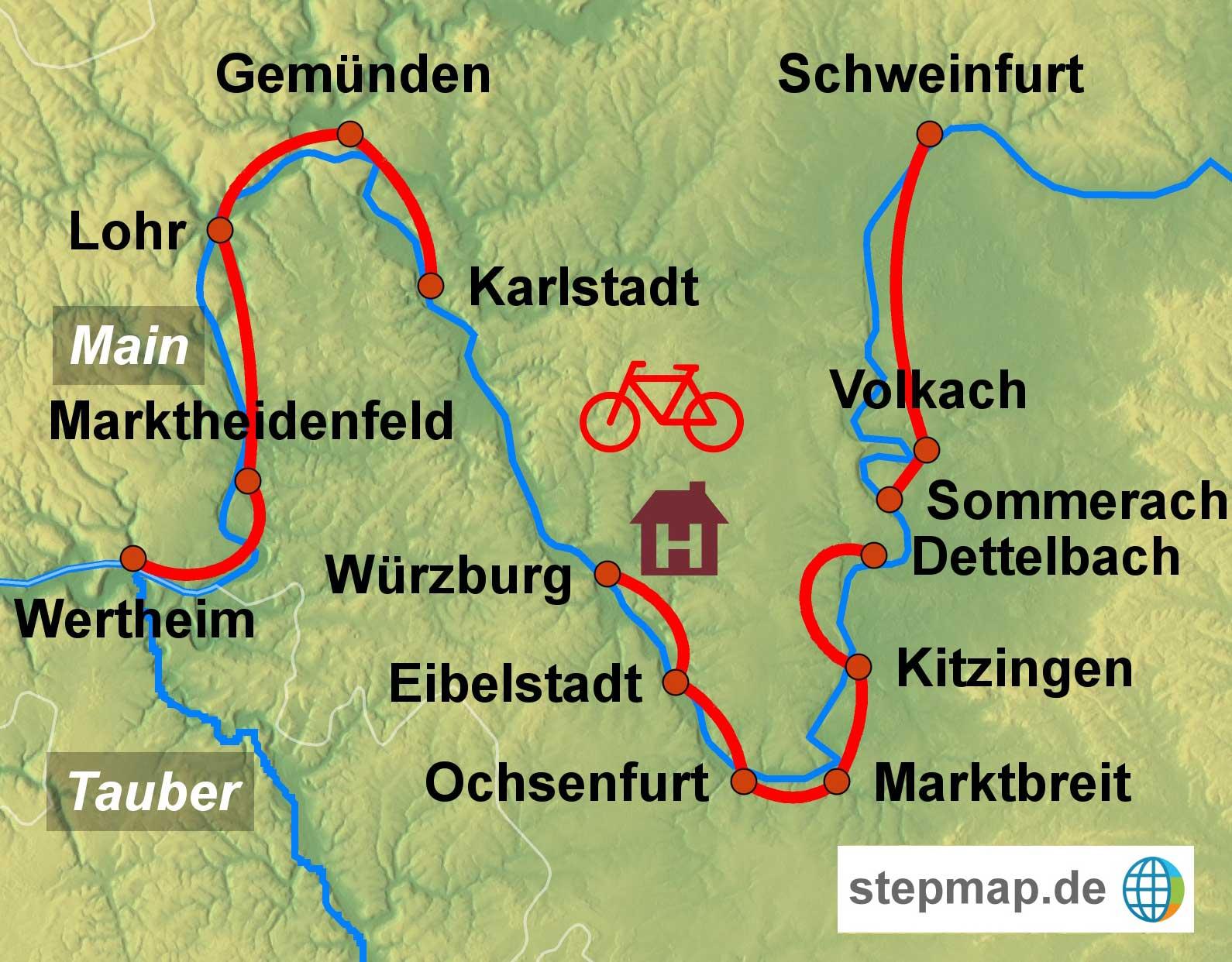 Radreise Main