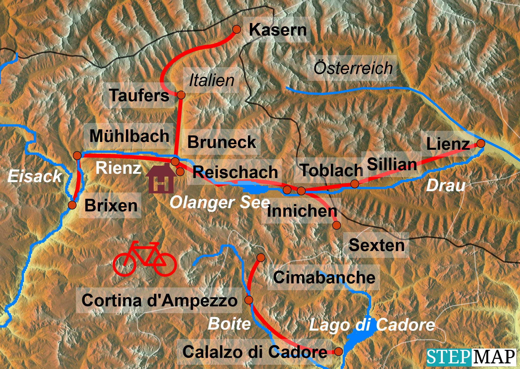 Radreise Dolomiten-Pustertal