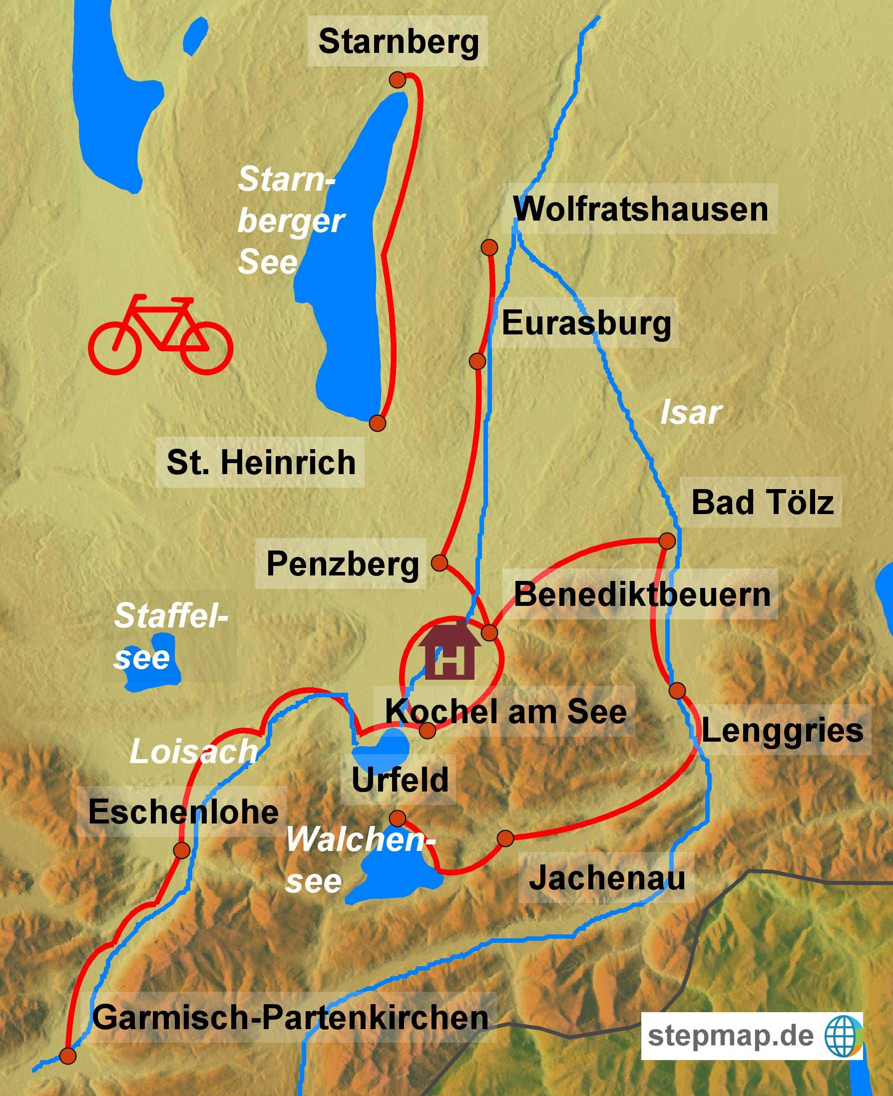 Bayerische Seen im Tölzer Land