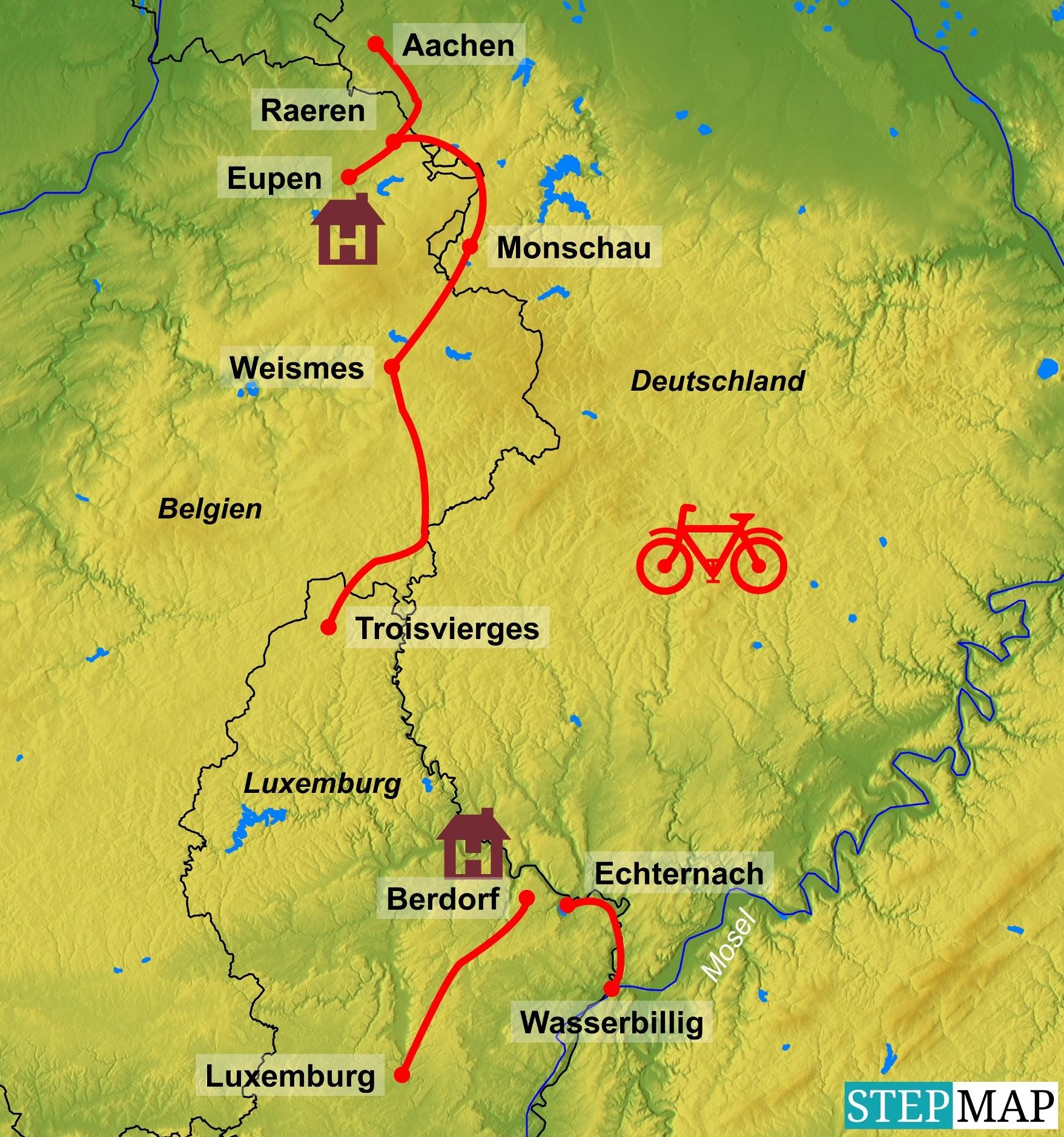 Radreise Luxemburg und Vennbahn