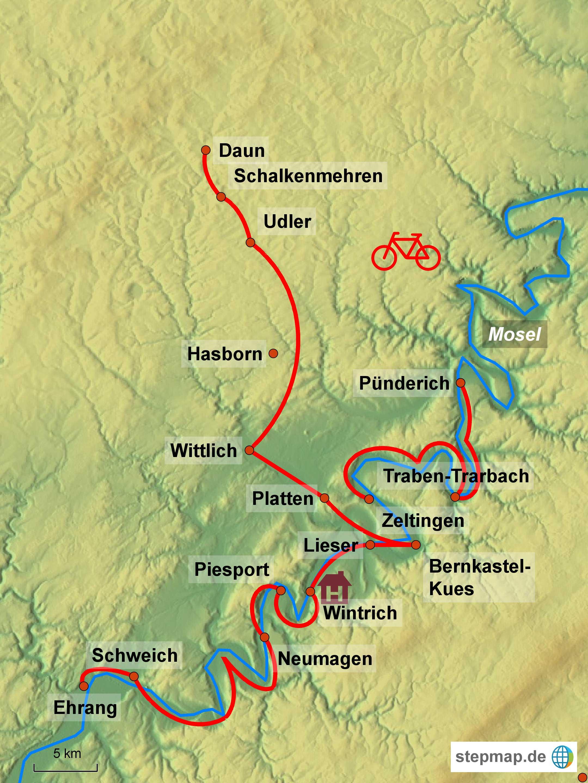Radreise Moseltal und Eifelmaare