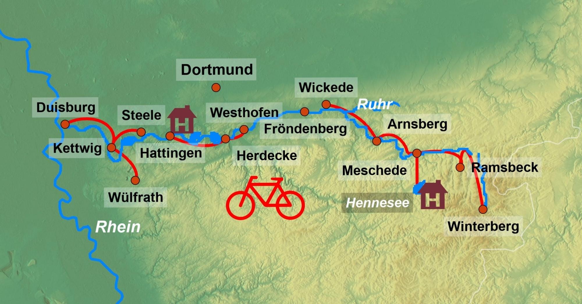 Radreise Ruhrtal