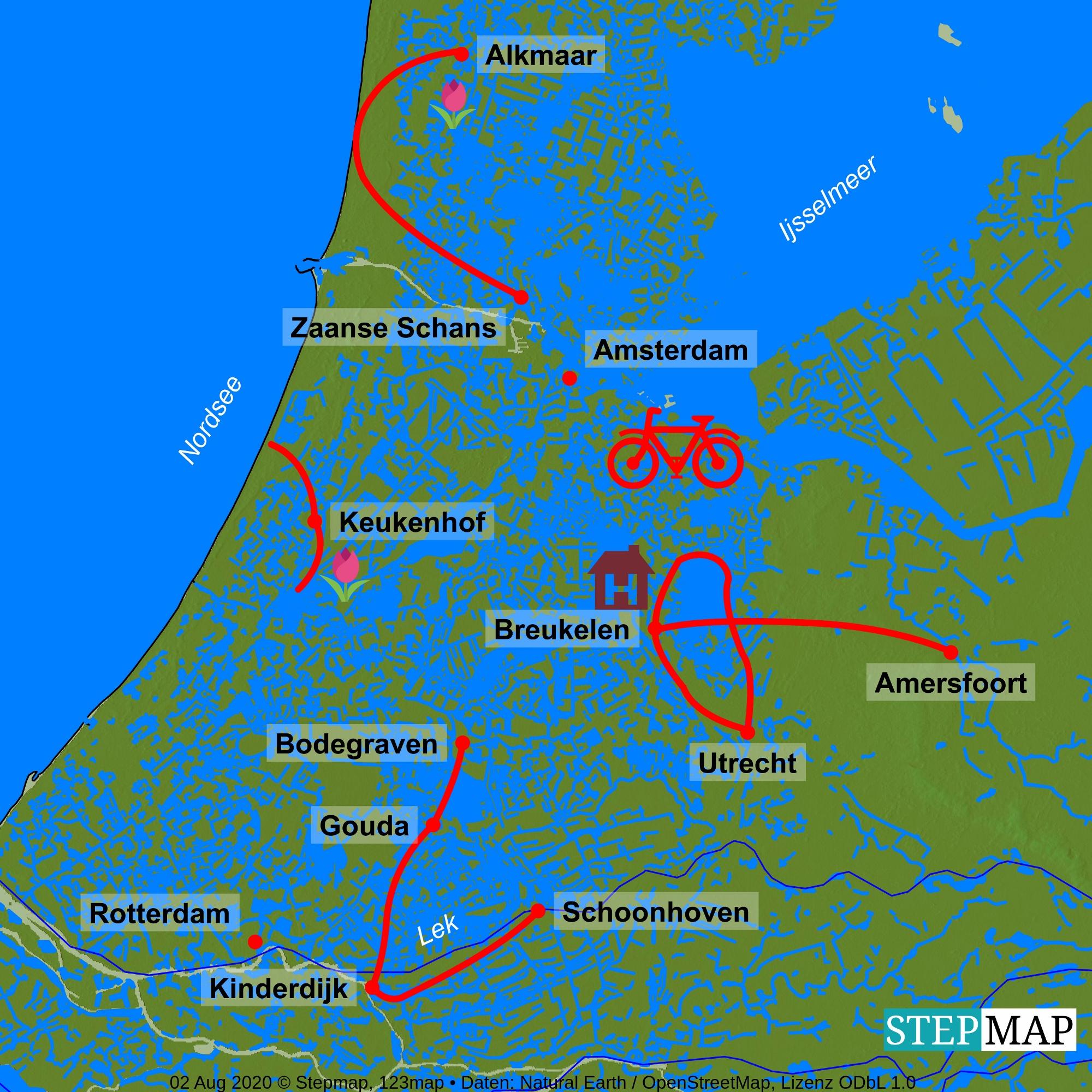 Radreise Holland